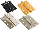 Twin Ball Bearing Door Hinges Stainless Steel Pairs Brass Polished Statin Black