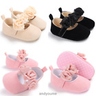 Toddler Baby Prewalker Shoes Newborn Soft Sole Princess Girl Crib Shoes 0-18M.