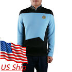 Star Trek TNG Uniform Star Trek TNG Blue Shirt Starfleet Science Uniform Badge on eBay