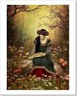 A Woman Reading A Book Art Print Home Decor Wall Art Poster - D