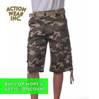 PROCLUB PRO CLUB MEN'S CARGO SHORTS 5 POCKET PLAIN LONG TWILL CAMO COMBAT PLAID <br/> *BUY 2 OR MORE & GET 10% DISCOUNT. BUY WITH CONFIDENCE*