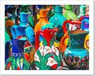 Hand Crafted Mexican Water Jugs Art Print Home Decor Wall Art Poster - C
