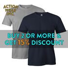 AAA 1301 MEN'S CASUAL SHORT SLEEVE T SHIRT PLAIN SHIRTS COTTON TEE BASIC S - 5XL image