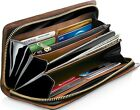 Genuine Leather Wallets For Women's Ladies Clutch Accordion Zipper RFID Blocking