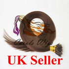 "16"" 1g Nano Ring Dark Brown Russian Virgin Double Drawn Human Hair Extensions UK"