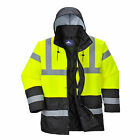 Portwest US466 Hi-Visibility Contrast Traffic Parka - NEW!