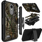 For LG Aristo 2/Rebel 3/Zone 4/Tribute Dynasty Case Hard Rubber Clip Stand Cover