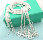 Hot 10pcs Wholesale 925 Sterling Solid Silver 1mm Snake Chain Necklace Wgc08