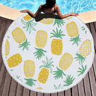 Summer Round Beach Towel With Tassels Microfiber Beach Picnic Blanket Yoga Mat