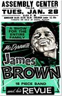 James Brown Tulsa Concert 1969 Vintage Music Poster Reproduction