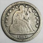 1857 Seated Liberty Dime Beautiful Coin Rare Date