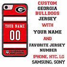 Personalized Georgia Bulldogs Jersey Phone Case Cover fits iPhone Samsung LG etc
