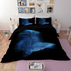 3D Purple Lithe Feather Quilt Cover Set Plume Duvet Cover Bedding Set Pillowcase image
