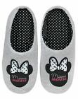 Disney Minnie Mouse Women's House Slip-on Slippers in Grey