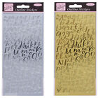 Anita's · Outline Stickers Peel offs · Card Crafts · Gold Silver Letters Numbers