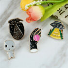 1pc Enamel Creative Design All match Brooch Individuality Coat Bag Pin Brooches