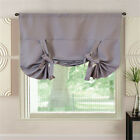 "1 Sheer Roman Curtains Blackout Window Curtain Tie Up Shade Window 46""W x 63""L"
