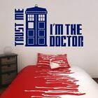 Dr Who Tardis Wall Decal Trust Me I'm The Doctor Kids Bedroom Wall Art Sticker