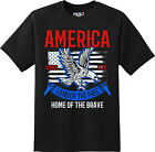 Land Of The Free American Patriotic Freedom T Shirt  New Graphic Tee
