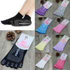 1 Pair Non-slip Footprint Yoga Ankle Grip Socks Cotton Dance Toe Sox Breathable