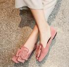 Women Floral Flat Loafers Moccasins Driving Slip On Suede Pumps Leisure Shoes