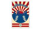Atlanta Braves Vintage Baseball Poster on Ebay