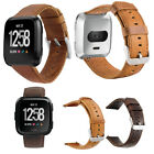 Leather Wrist Bands Strap For New Fitbit Versa/Lite/Special Edition Replacement image