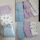 NEW⭐ BNWT NEXT Baby Girl 0-3-6-12-18-24 months Cotton Blend Lilac Floral Tights