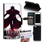 PIN-1 Anime Hellsing A Phone Wallet Flip Case Cover B for Samsung