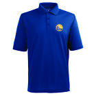 Golden State Warriors Antigua Embroidered Pique Xtra-Lite Blue Polo Golf Shirt on eBay