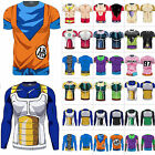 tee 3d - Mens 3D Fitness T Shirt Tee Saiyan Goku DBZ Compression Tops Dragon Ball Z Cos