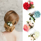 Bridal Flower Hair Comb Girls Floral Hairpin Wedding Accessories Hair Jewelry