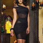Sexy Lingerie Women Sleeveless Bodycon Short Mini Dress NightClub Wear Skirt Hot