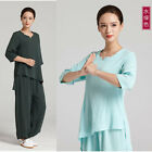 Woman Kung fu Martial arts Wing Chun Suit Tai chi Robe Training Clothes Uniform