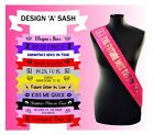 Personalised Hen Party Do Night Out Sash Sashes Cheap Custom Made Accessory
