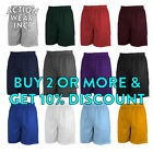 MENS PLAIN BASKETBALL SHORTS MESH RUNNING GYM FITNESS WORKOU