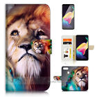 ( For Oppo R11S ) Wallet Case Cover A21185 Lion