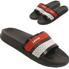 LADIES SLIDERS SLIP ON FLAT MULES SUMMER SPORTS BEACH SANDALS FLIP FLOPS SHOES