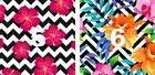 "(2) 12"" x 12""  Floral & Stripes Oracal Printed Adhesive Outdoor Vinyl PERMANENT"