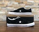 Converse One Star Mid Black Ivory Suede Men Skate Boarding Shoes 149908C