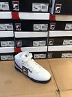 Mens Fila F13 Classic F 13 Mid High Top Basketball Sneakers White red navy