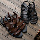 Gladiator Roman Mens Sandals Flip Flops Beach British Faux Leather Shoes Casual