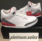 2018 AIR JORDAN RETRO 3 III KATRINA White Fire Red Cement 136064 116 sizes 9 14