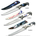 American Bold Eagle Dagger Fantasy Bowie Gift Knife with Printed Scabbard