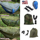 US LOCAL 2 Person Travel Outdoor Camping Hanging Hammock Bed With Mosquito Net