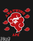 Bape Red Clouds | A Bathing Ape Poster or Art Print