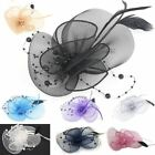Pearls Black Feather Beak Clip Fascinator Ascot Wedding Ladies Day