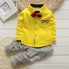 2017 new spring baby clothes gentleman baby boy shirt+overalls fashion baby boy