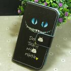 1x Smile Don't Touch My Phone Wallet Holder flip case cover for Various phone