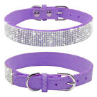 Purple Bling Cyrstal Rhinestone Dog Collar Necklace for Medium to Large Dogs US